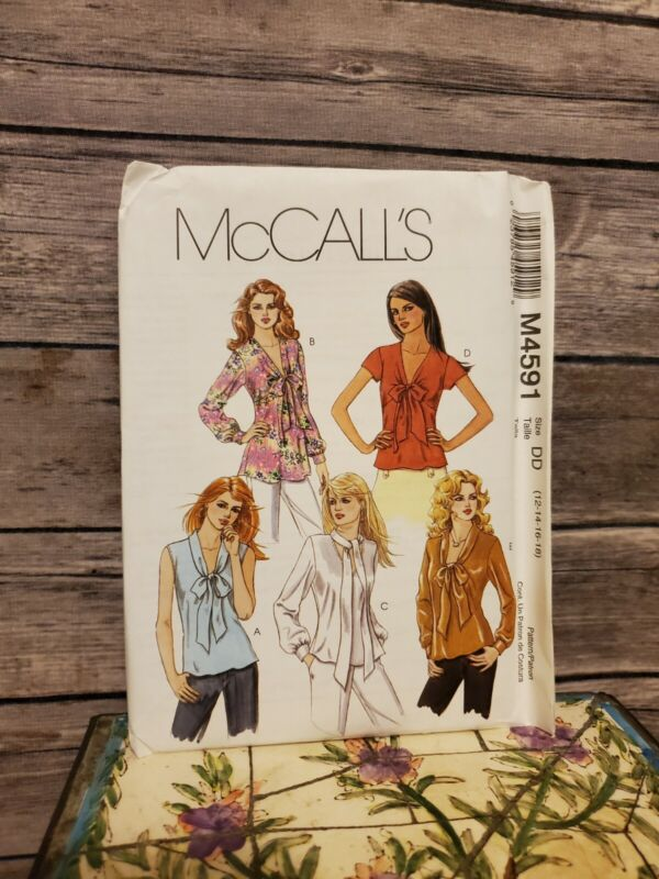 McCall's M4591 Blouse Top Shirt Variations Size 12-14-16-18 2004