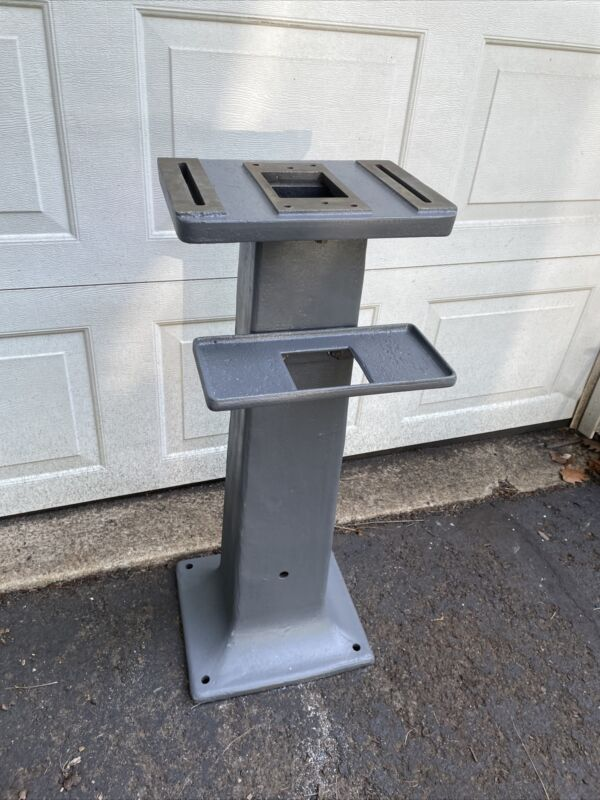 Vintage Cast Iron Pedestal Grinder Buffer Stand With Tray - NJ Pickup