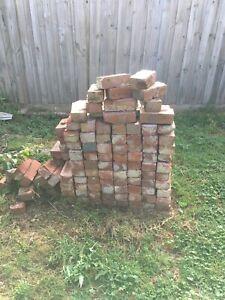 Recycled red bricks / pavers