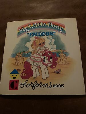 """Vintage My Little Pony """"Embers"""" Colorforms Book 1985 With 19 Colorforms!"""