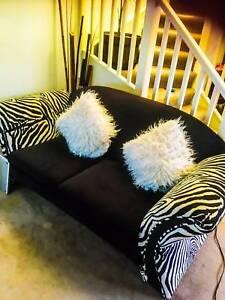 Retro Couch Zebra 3 piece