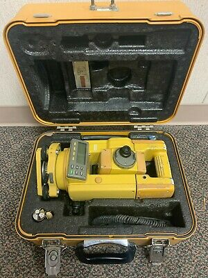 Topcon Gts-313 Surveying Total Station With Case Topcon Battery And Data Cable