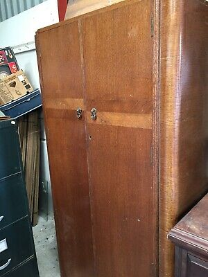 Vintage Retro Wardrobe Armoire By Crown Furniture 24/8/B