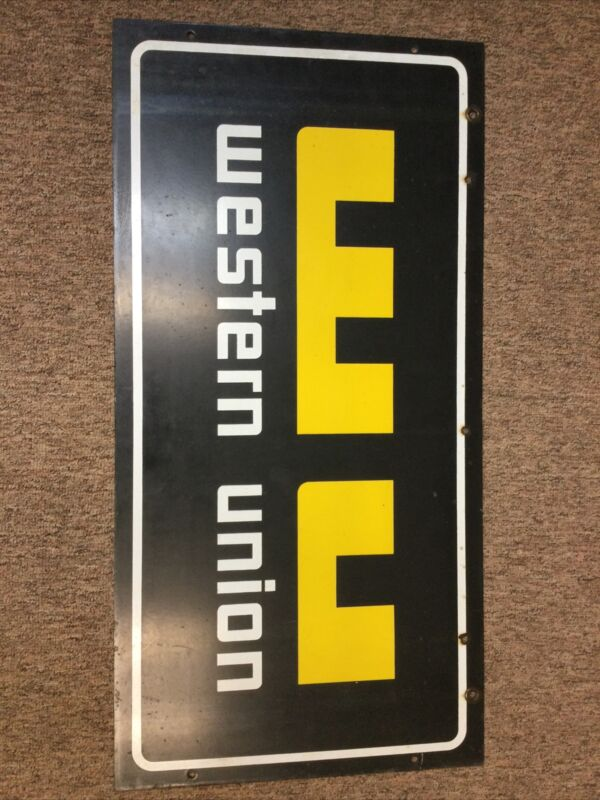Western Union Double Sided Sign