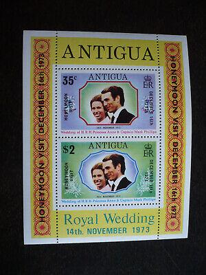 Stamps - Antigua - Scott# 324a - Souvenir Sheet of 2 Stamps