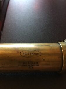 Antique brass, and leather bound telescope spyglass.