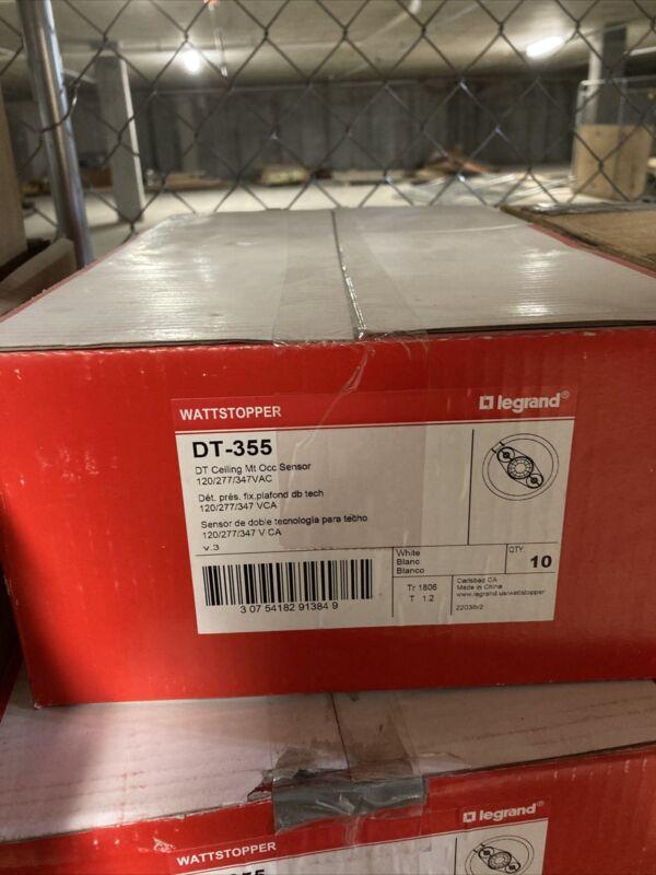 CASE OF 10 NEW LEGRAND DT-355 Ceiling Mount Occupancy Sensor White  Wattstopper