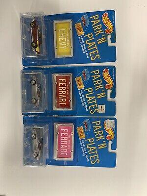 Hot Wheels Park N Plates Ferrari X2 Plus Chevy!