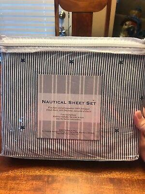 - NANTUCKET Distributing Nautical Sheet Set Stars 100% Polyester Full (CT)