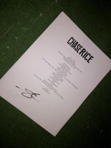 Chase Rice Signed setlist reproduction