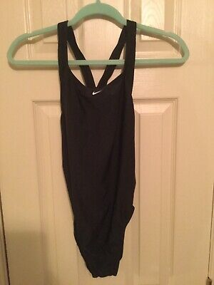 Nike Womens One Piece Swimsuit Powerback Black Size 10 Endurance Swim T back Nike Womens Swimsuit