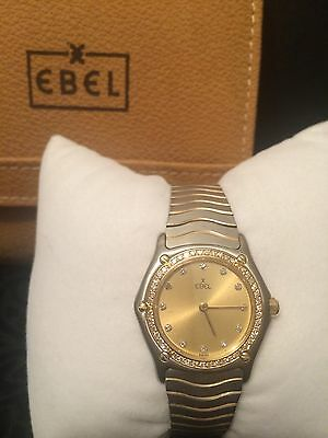 EBEL Classic Wave 18K Gold Diamond Bezel TwoTone Stainless Steel Ladies Watch