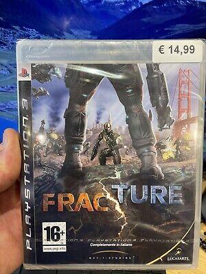 FRACTURE PS3 Italiano Nuovo Di Zecca Sigillato Poco Graffiato Mai Aperto Play...