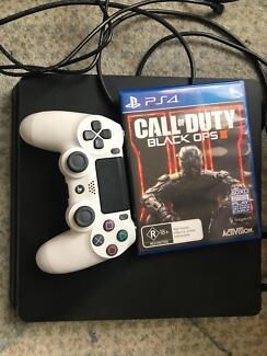 Play Station 4, Controller with charger, hdmi chord, black ops 3