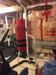 PUNCHING BAG W/ HEAVY/SPEED BAG STAND & KIT