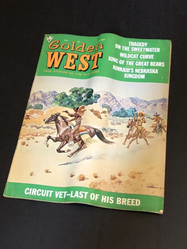 GOLDEN WEST MAGAZINE: TRUE STORIES OF THE OLD WEST July 1967 - Vintage Western