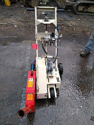 Edco Pneumatic 14 Inch Concrete Walk Behind Saw Model Asb14 Works Good