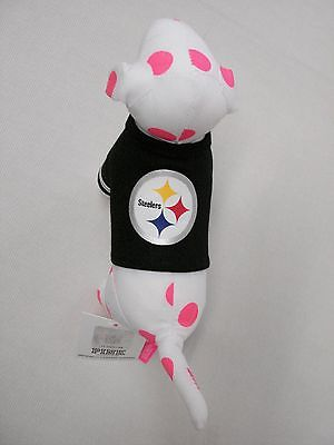 VICTORIA SECRET PINK NFL FOOTBALL JERSEY COLLECTORS MINI DOG PITTSBURGH STEELERS image