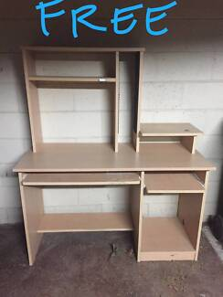 Free Desk Laminate CD rack and pull out keyboard