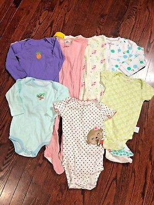 Infant Toddler Girl 24 m Long Sleeve Pajama Long/Short Sleeve One-Piece Lot Sale (Toddler Pjs Sale)