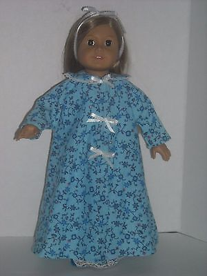 """American Girl 18"""" Doll Blue Robes with PJs or Gown + Slippers Choice of 2 Styles"""