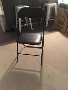4 Black chairs foldable Richmond Yarra Area Preview