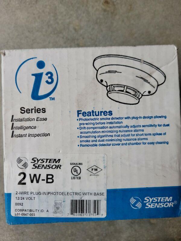 System Sensor 2W-B Photoelectric Smoke Detector