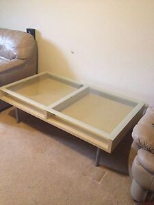 Coffee table 53 by 29.5 inches