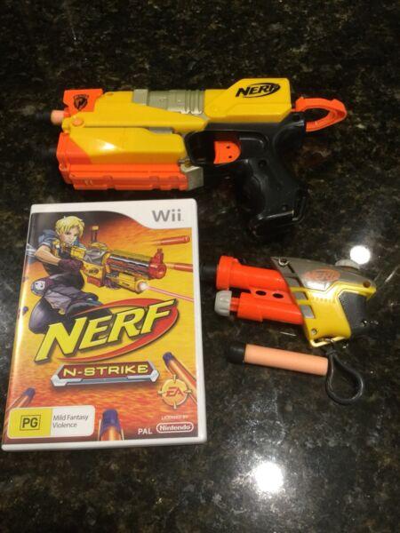 Image is loading Nintendo-Wii-nerf-NERF-N-STRIKE-Game-2-
