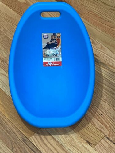 American Plastic Toys Scoop Rocker Kids Childrens Chairs Blue Single