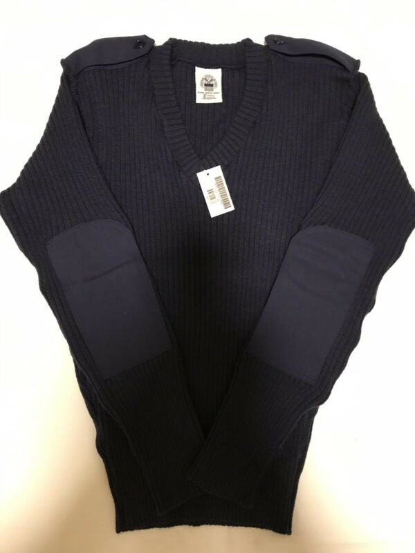 Genuine US Coast Guard Guardian Collection 100% Wool Blue Swater Size 46 New