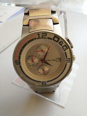 große Uhr Dolce & Gabana Sandpipier, D&G, Uhr, Chronograph,Stahl, silber gebraucht kaufen  Hamburg