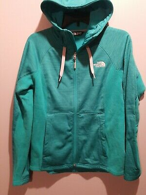 THE NORTH FACE WOMENS HOODED FULL ZIP SWEAT JACKET SZ M