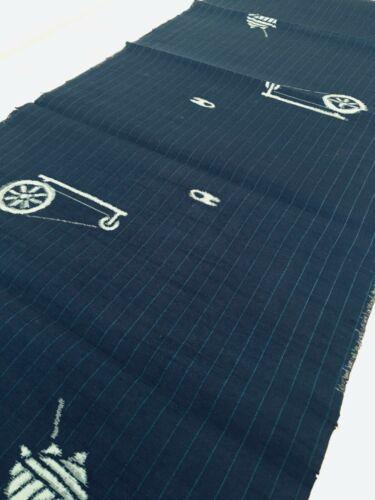 Pongee #B 14x61 LONG Tsumugi Vintage Silk Japanese Kimono Fabric Panel TD5