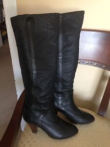 Beautiful black leather boots size 10