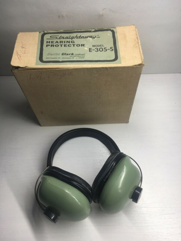 Vintage David Clark Straightaway Ear Hearing Protector Protection - Model E805-S