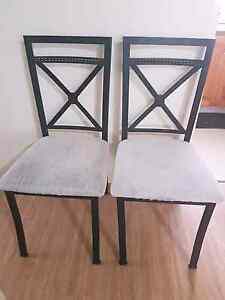 Dining metal chairs with cloth cushion Chatswood Willoughby Area Preview
