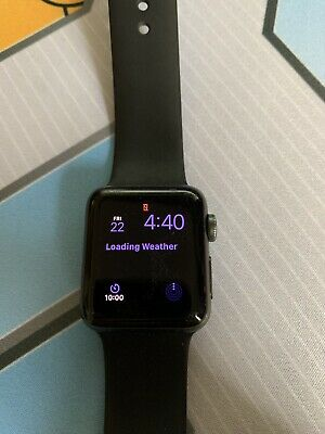 Apple Watch Series 2 38mm Aluminum Case Black Sport Band - (MP0D2LL/A)