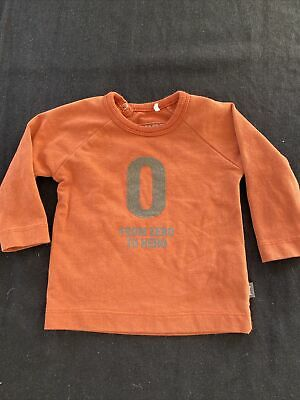 "Imps & Elf's Rust ""From 0 To Hero"" Organic Cotton T-Shirt-0-3Mos"