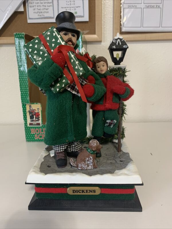 Holiday Creations Musical Holiday Scene Dickens Christmas Carolers