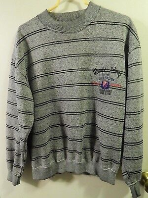 "'80s-'90s Fashion  ~ BUGLE BOY [Size: Lg] SWEATSHIRT ""Freedom League"" Retro Ltd"