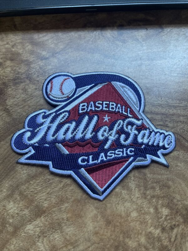 """Baseball Hall Of Fame Classic Game Uniform Jersey Iron On patch 5"""" Rare Vtg"""