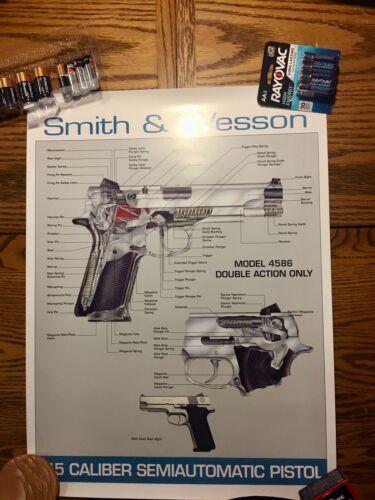 RARE Smith & Wesson Model 4586 .45 Cal Pistol Poster