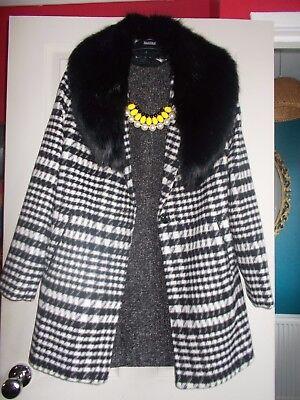 Gianni Versace Classic Wool Silk Shift Sleeveless Little Black Mini Dress size 8