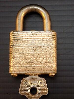 Vintage Master Lock Co Surface Mount Cabinet Door Lock w//Key