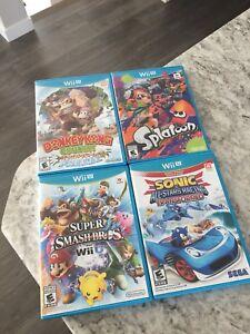 Four Nintendo Wii-U Games