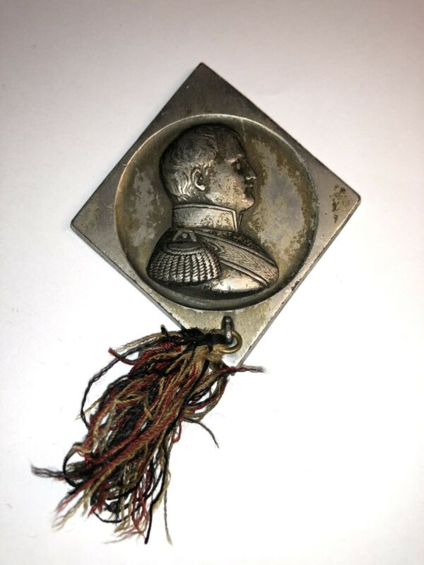 Very Rare 19th Century 152 Gram Silver Napoleon Medallion Medal French