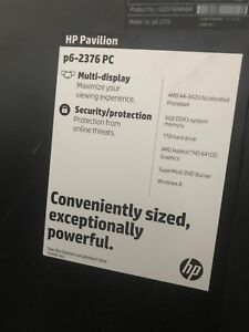 Hp pavilion turns on but no video/looking for help