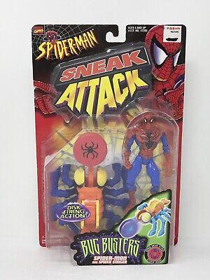 Attack Spider - Spiderman Sneak Attack & Spider Stinger Bug Busters Marvel Toy Biz 1998