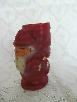 1920s Handbags, Purses, and Shopping Bag Styles Antique 1920s Red Santa & Bag Christmas Paper Mache Candy Container  $24.99 AT vintagedancer.com